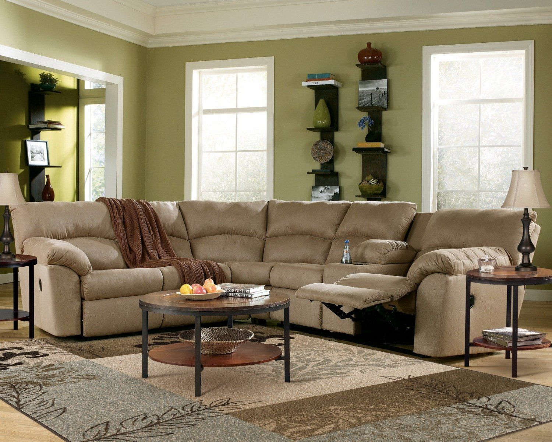 Best Amazon Com Amazon Mocha Reclining Sectional Sofa 400 x 300
