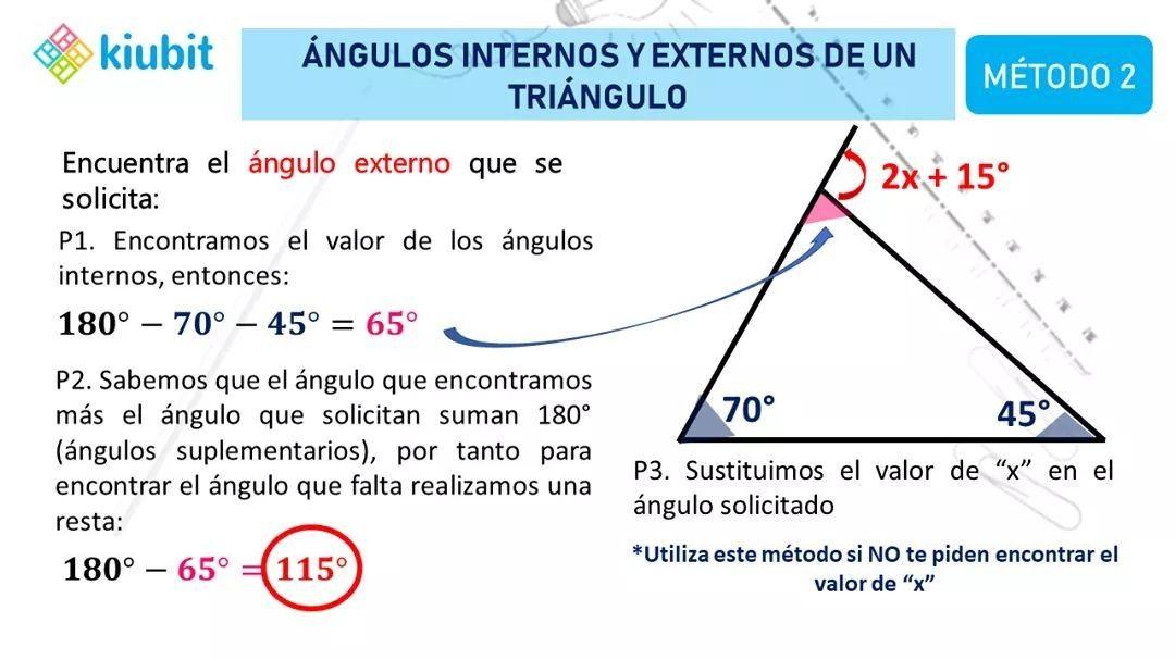 ángulos Internos Y Externos De Un Triángulo Chart Line Chart Diagram
