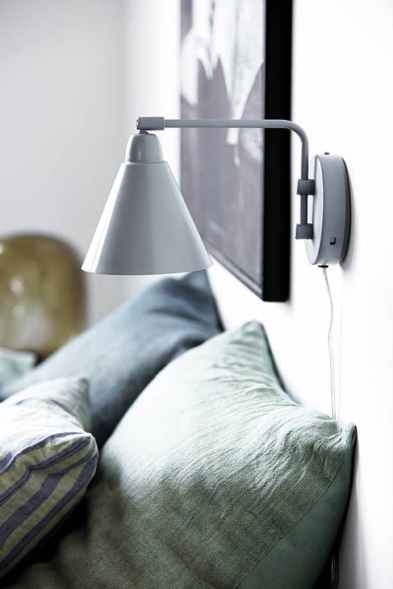 House Doctor Game wall lamp grey metal white | House doctor
