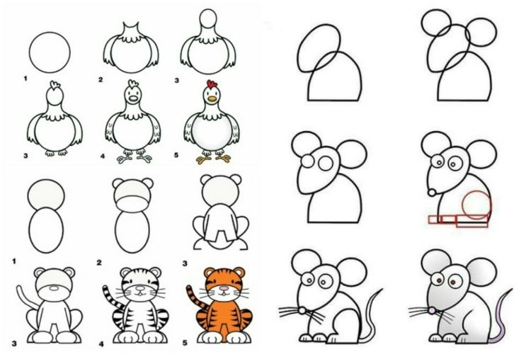 Zum Zeichnen Lernen Tiere Verwenden Zeichnen Lernen Comicfiguren Zeichnen Zeichnen Lernen Fur Kinder