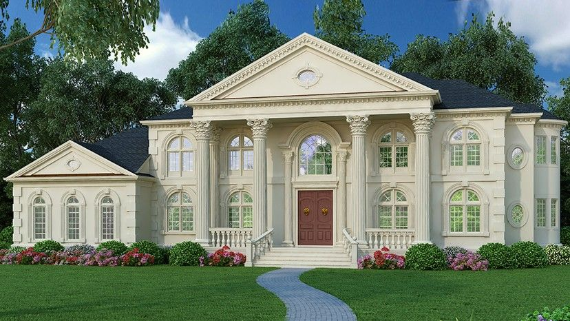 F3 home plan homepw00293 5699 square foot 5 bedroom 4 for Www homeplans com