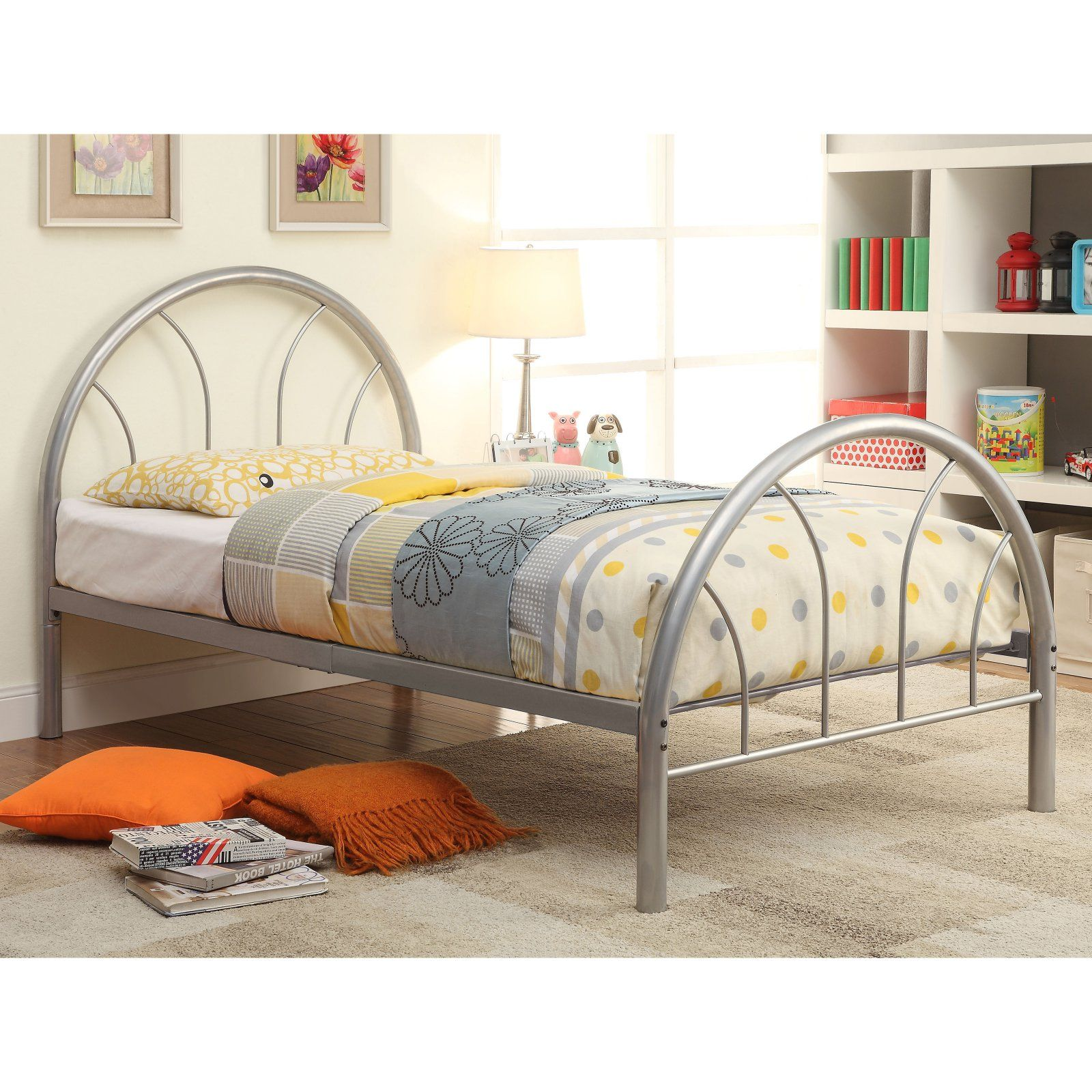new styles 2c583 aa200 Furniture of America Benjamin Metal Youth Bed, Size: Full ...