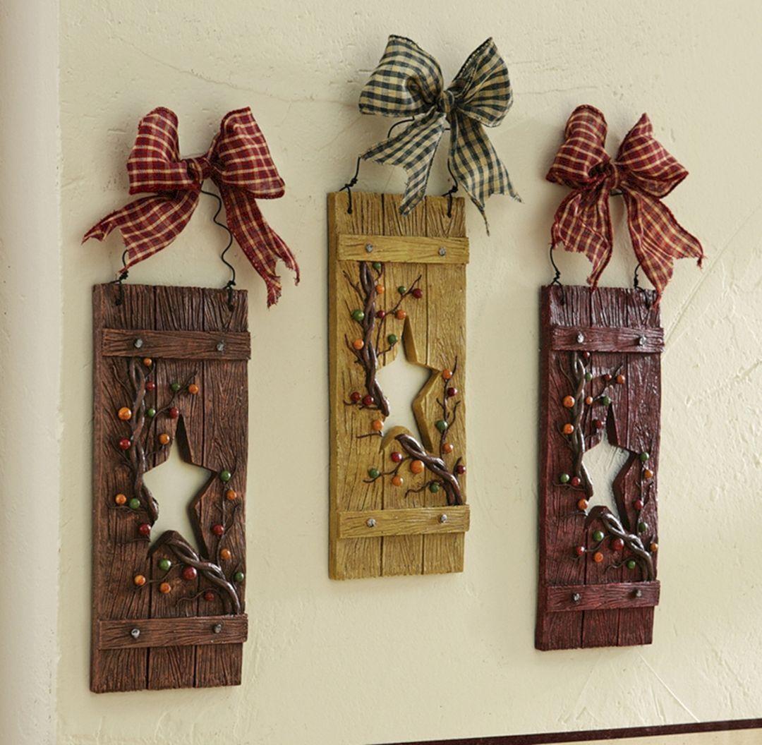 20 Diy Rustic Country Home Decor For Cozy Design Ideas Primitive Decorating Crafts