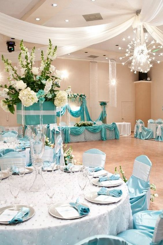 Awesome Quinceanera Ideas Tiffany Blue Themed Wedding Tiffany