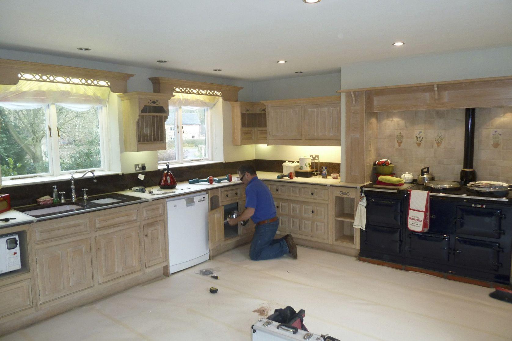 New Limed Oak Kitchen Cabinet Doors