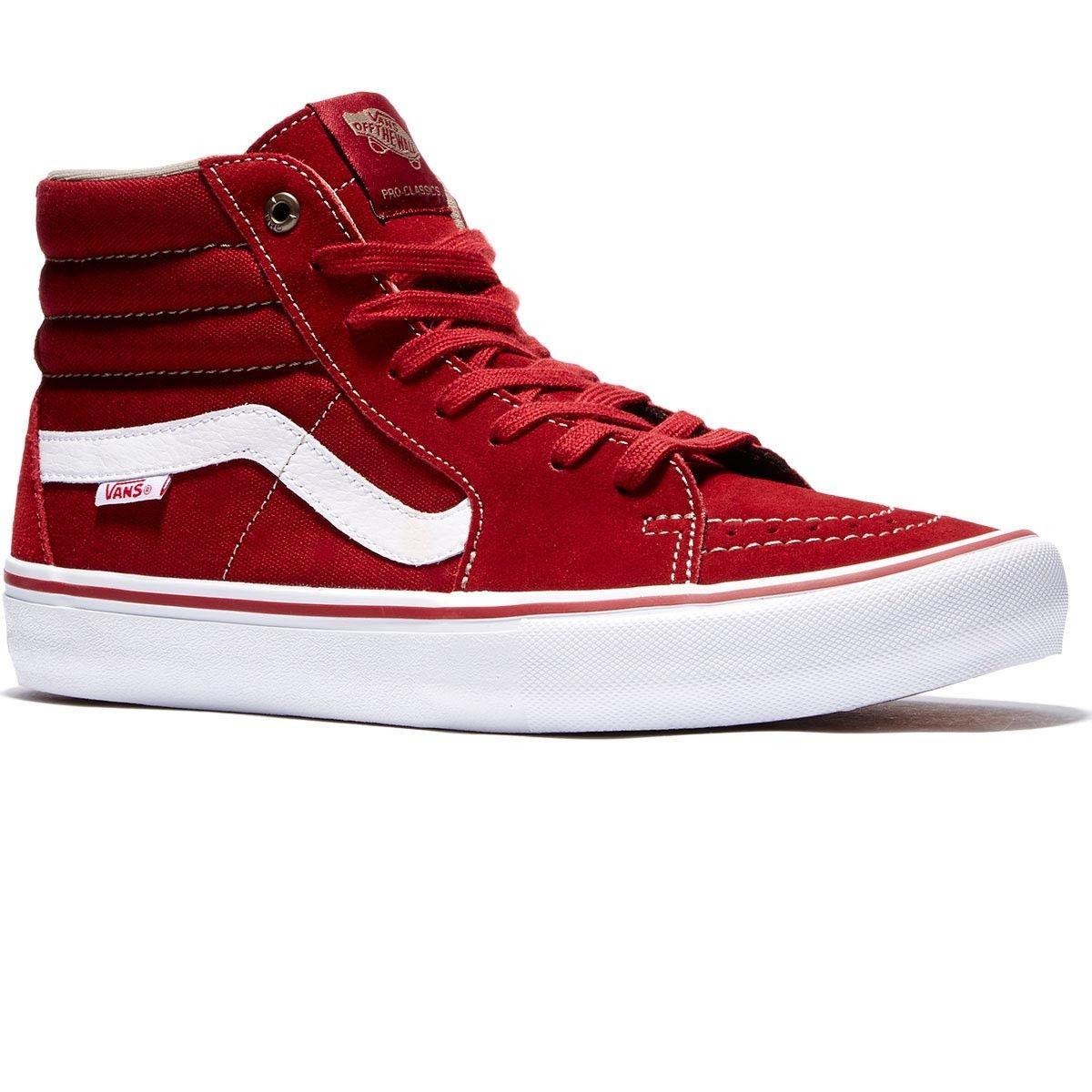 2d2b09f7b8 Vans Sk8-Hi Pro Shoes - Red Dahlia White - 8.0