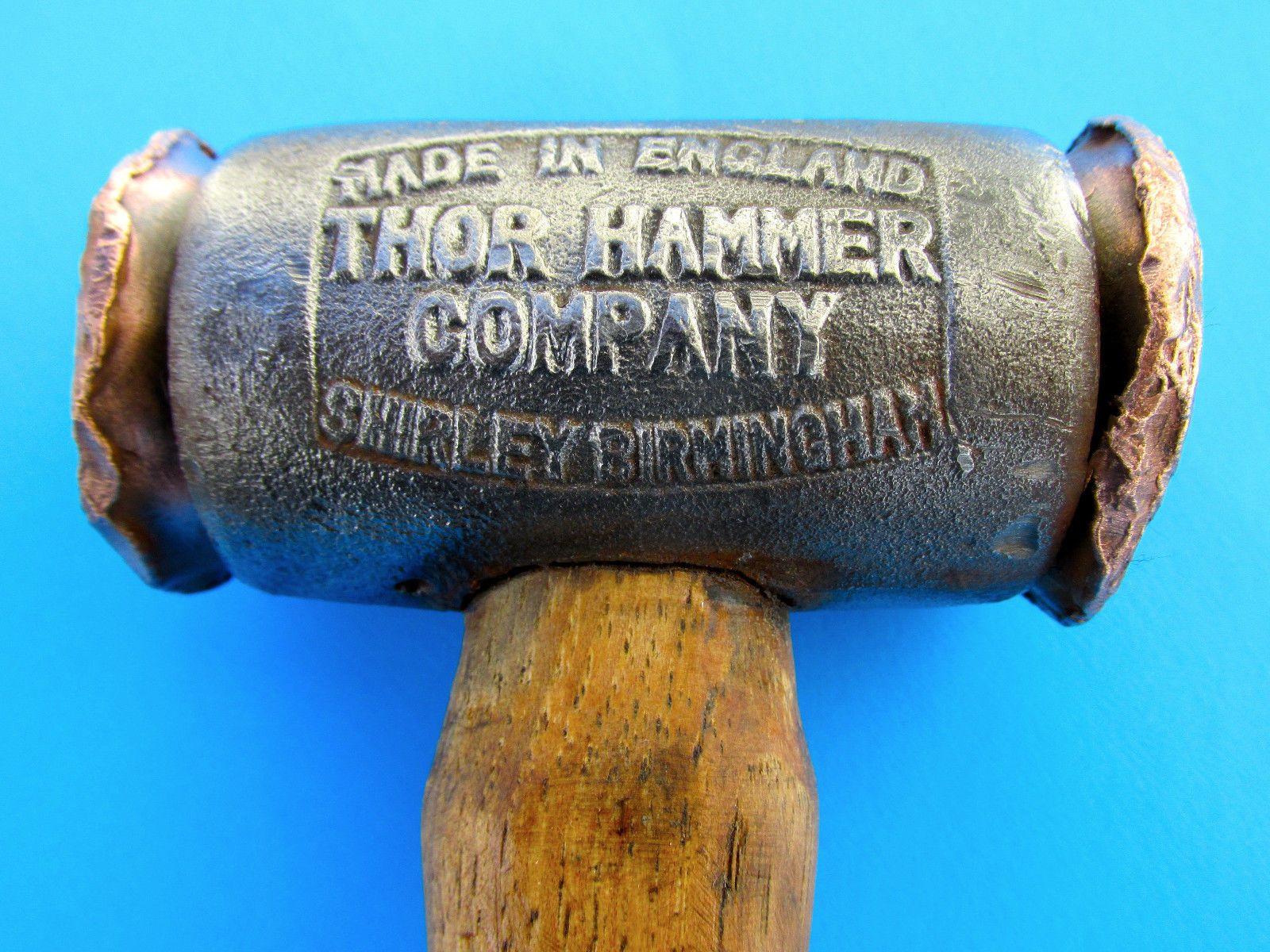 vtg thor copper hammer british tool kit for knock 0ff wheels