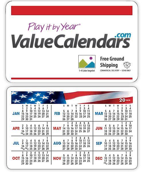 Calendar Design Cost : Patriotic wallet card calendar quot low