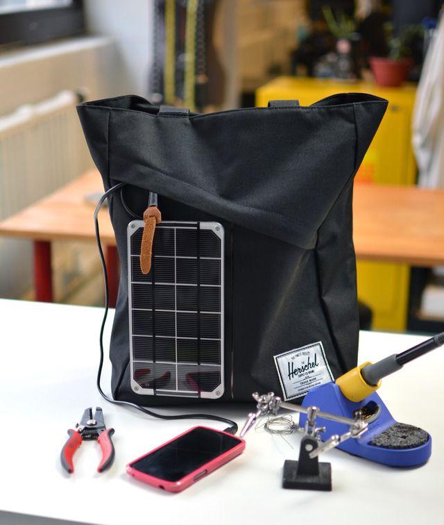Diy solar charging handbag diy projects easy do it yourself diy solar charging handbag solutioingenieria Image collections