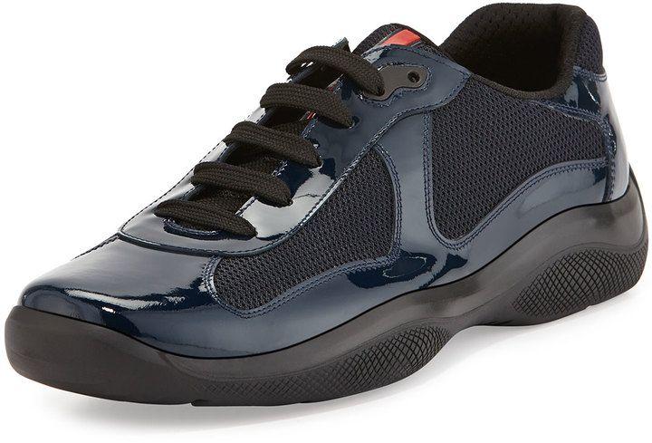 Patent sneakers, Prada men shoes, Sneakers