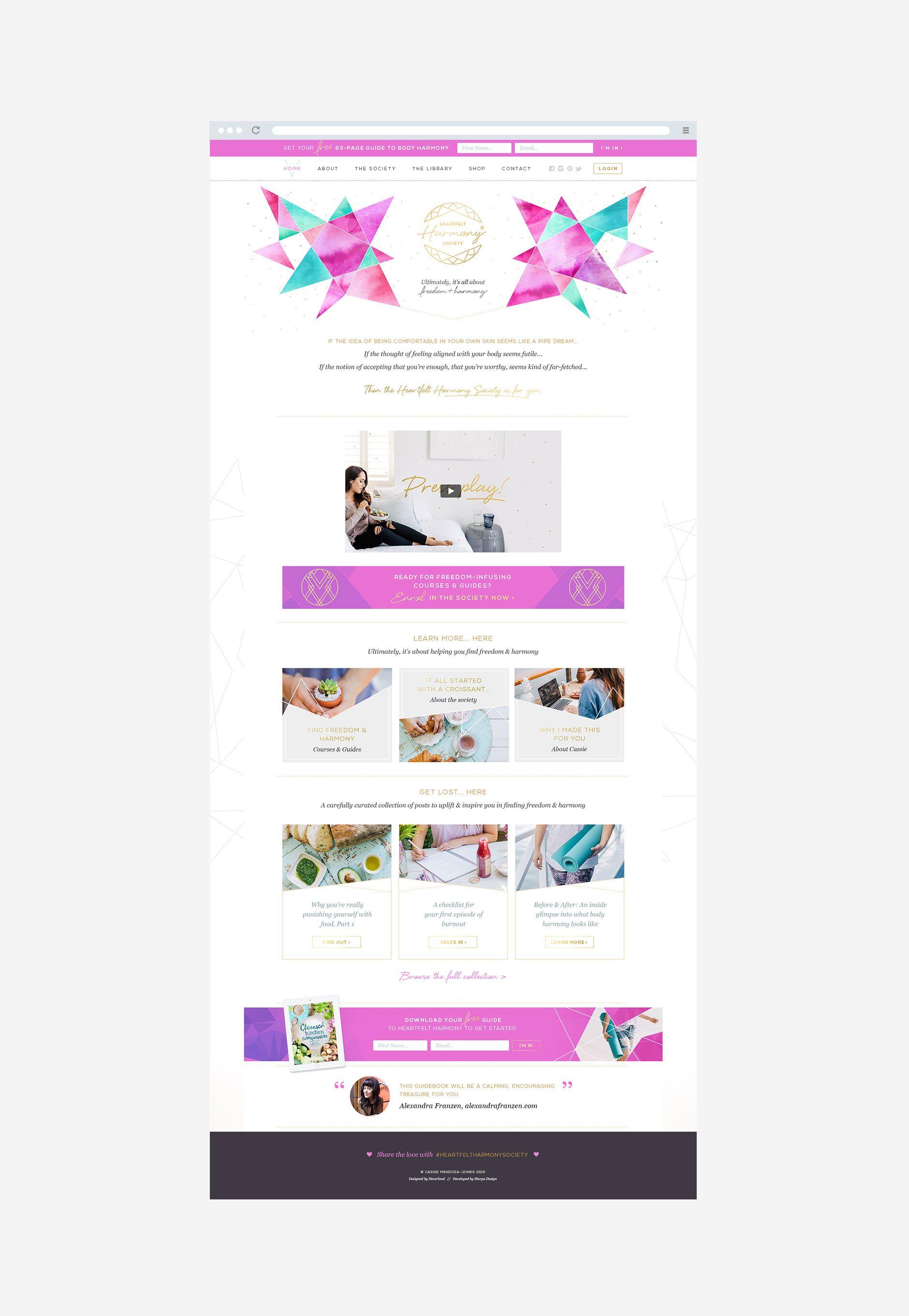 Heartfelt Harmony Website Design By Neverland Studio Website