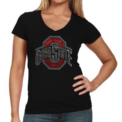 d806db81 Ohio State Buckeyes Ladies Large Logo V-Neck T-Shirt - Black | ohio ...