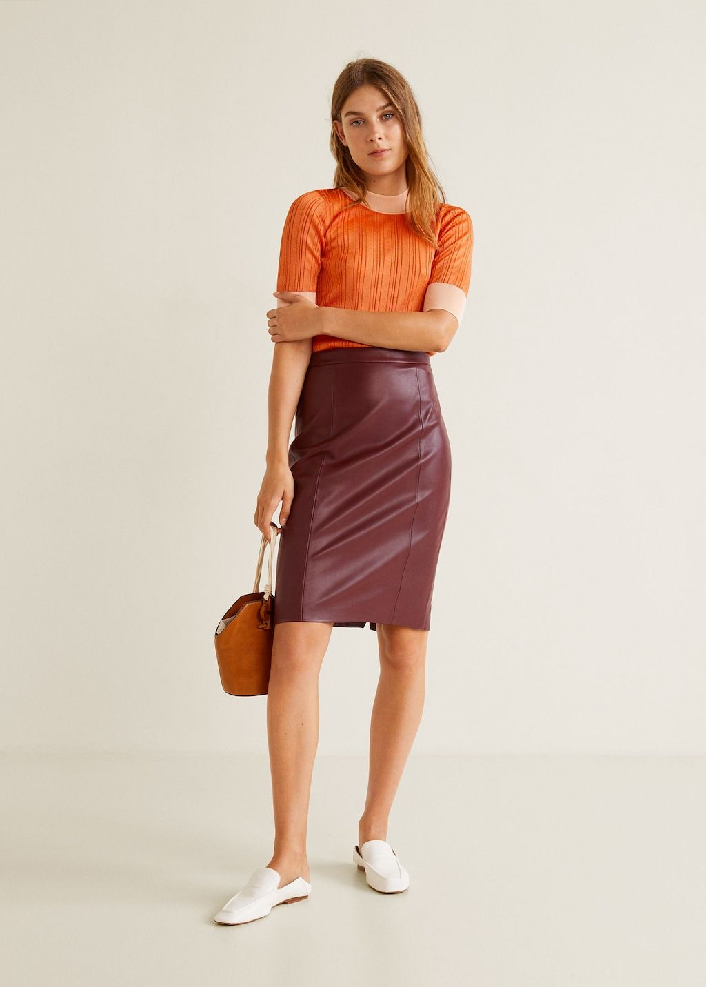 fed3ad59f9 Seams pencil skirt Link