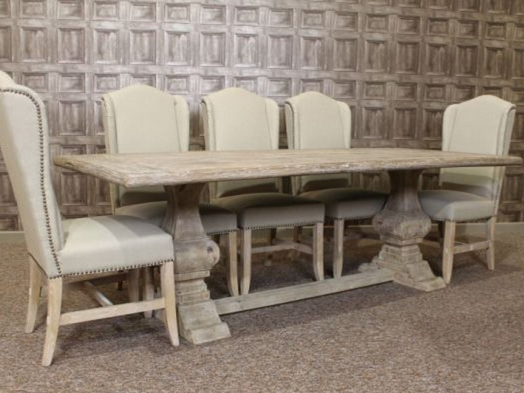 Brand-new White Washed Oak Dining Chairs - Dining room ideas RB55