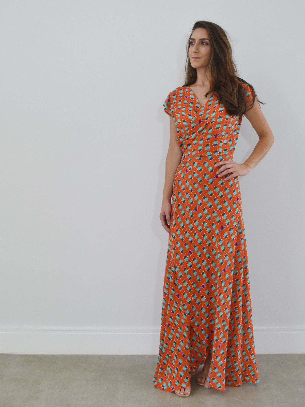6d1bb6b59e vestido longo transpassado envelope - estampado Besouro - Alle Röcke -  compre online