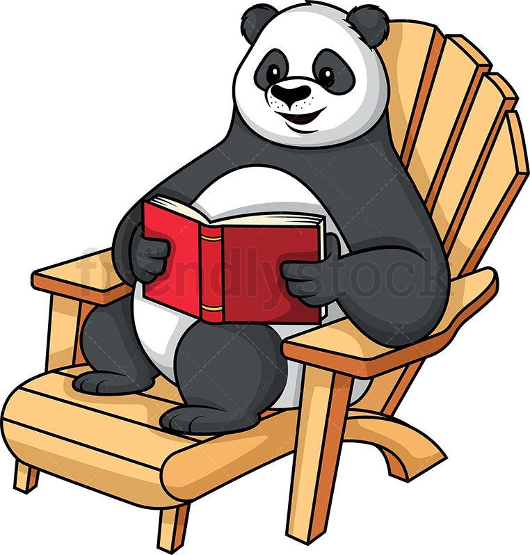 Panda Reading A Book Cartoon Clipart Vector Friendlystock Cartoon Clip Art Cartoon Illustration Cartoon