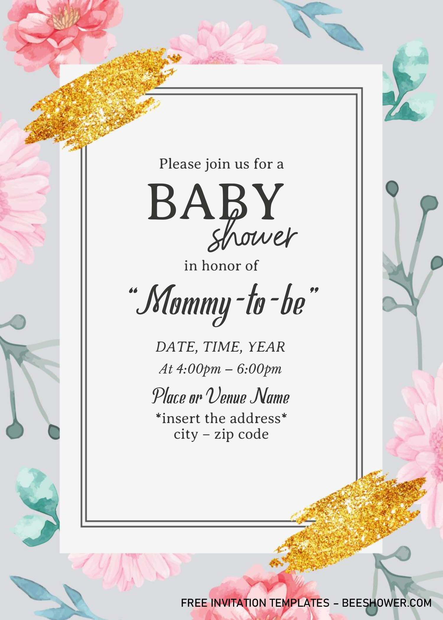 Blush Watercolor Baby Shower Invitation Templates Editable With Ms Wo Watercolor Baby Shower Invitations Baby Shower Invitation Templates Invitation Template