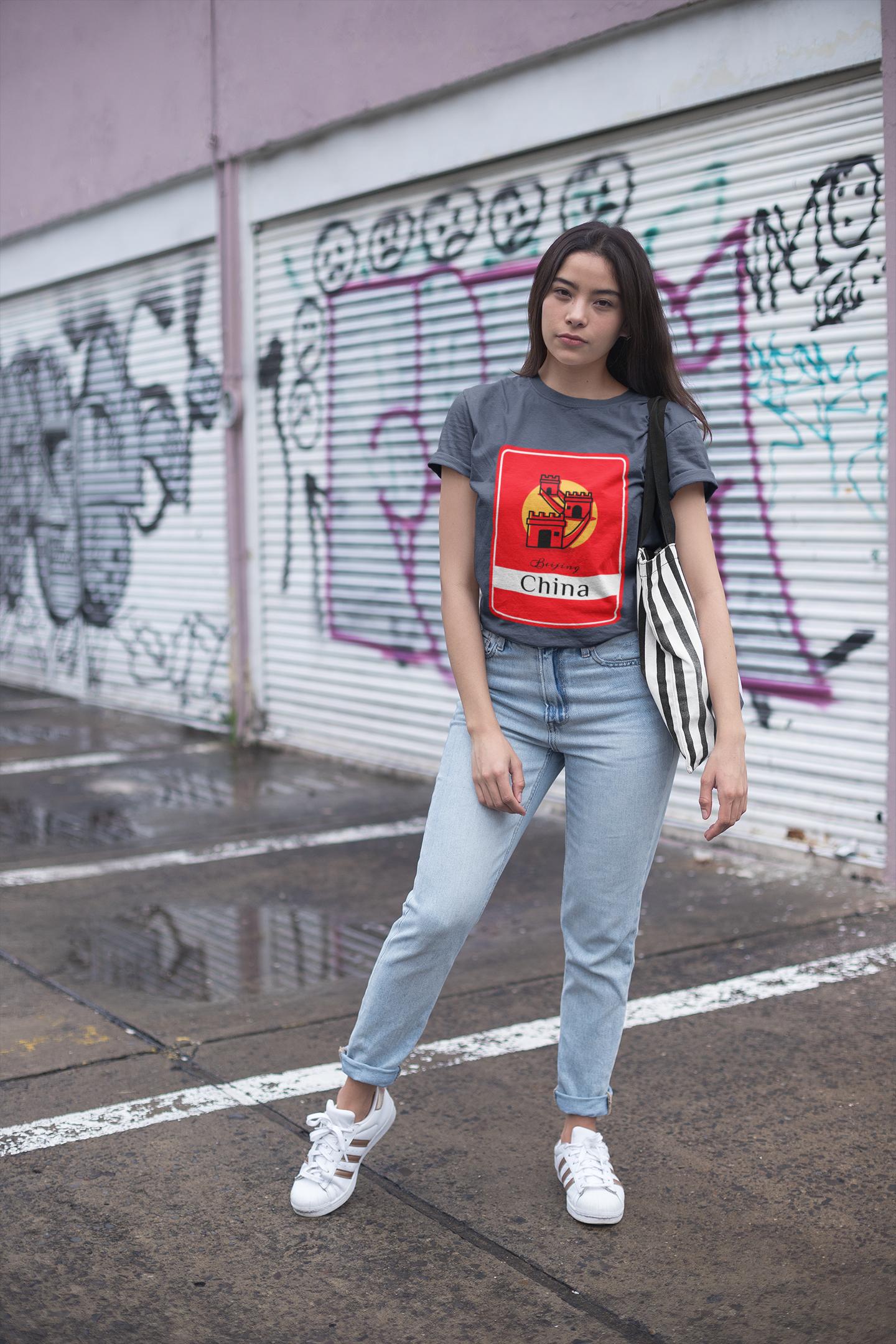 Photo of The Great Wall Dark T-Shirt [WONDERFUL CHINA] – 2XL / Navy