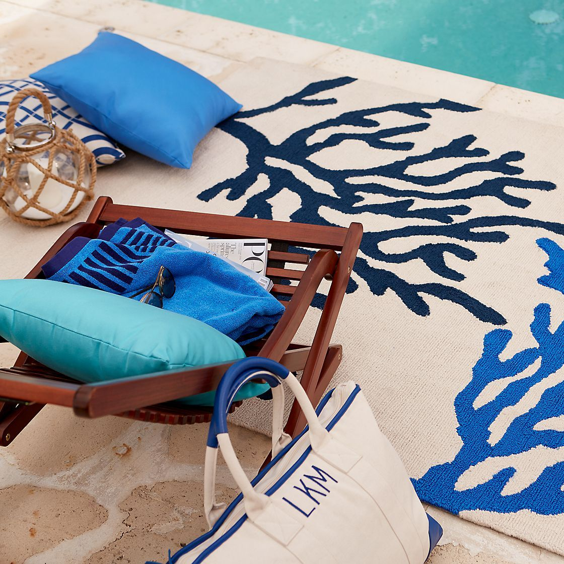 Sea Coral Indoor/Outdoor Rug | The Company Store | Beach House ...