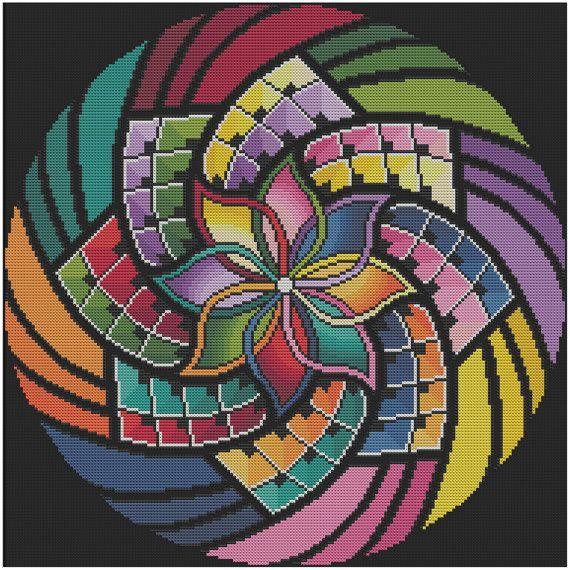 Mandala 15 intention grille pour le motif au point de - Modele de mandala ...