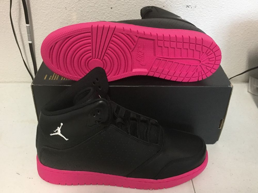 203d6fc6ba14 NIKE JORDAN 1 FLIGHT 5 PREM PREMIUM Womens 9 (7.5Y) Black Pink 881438 010  NEW  NikeJordan  Athletic