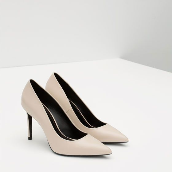 Image 4 of LEATHER COURT SHOES from Zara