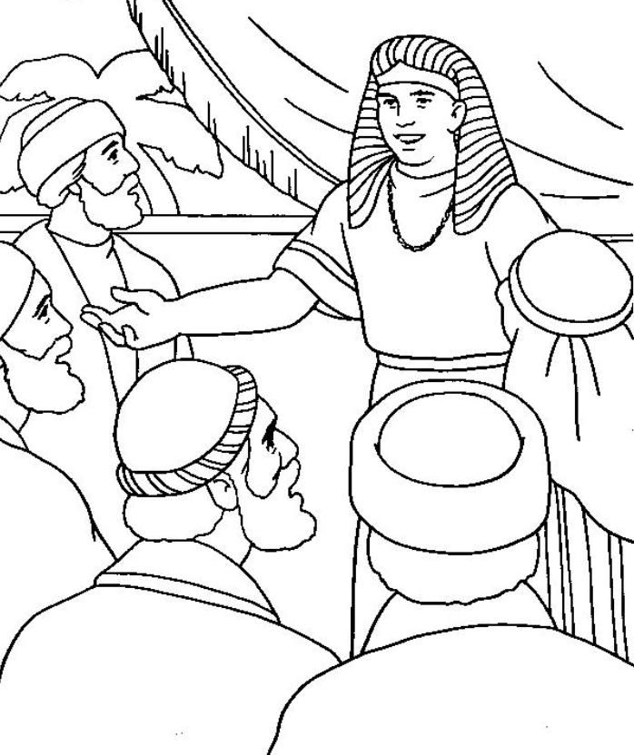 joseph and his brothers coloring pages free printable coloring