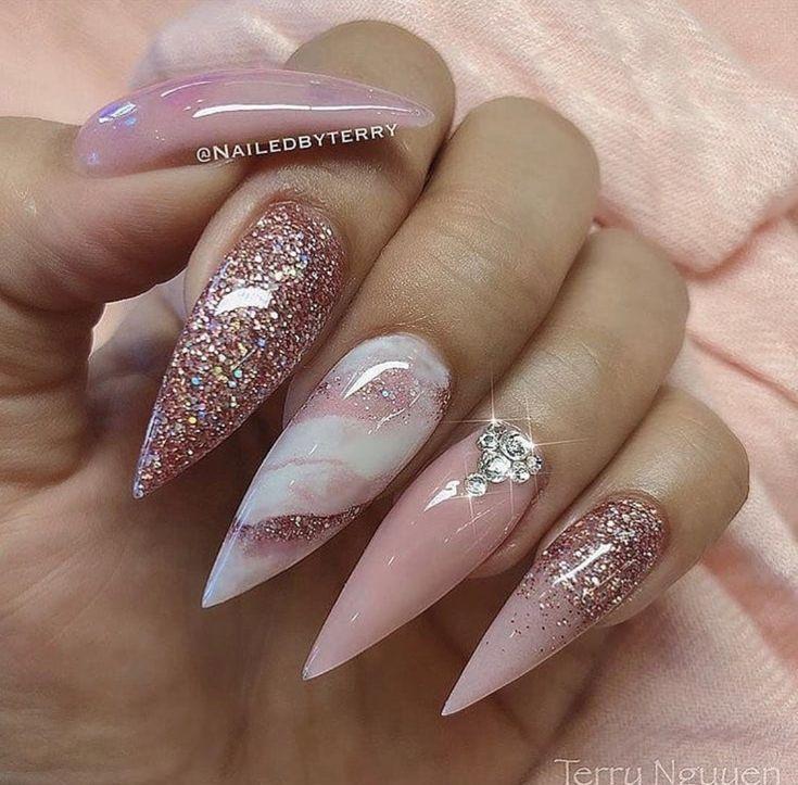 ✿ ❀ ❁✿Follow @IRIESHOECLOSET #nails #naildesigns #coffin #coffinnails #stilettonails #stiletto #naildesign #stilettos #ombre #ombrenails #marble #watermarble #dip #dippowder #dippowdernails #gel #gelnails #chrome #chromenails #chromenailideas #acrylicnail