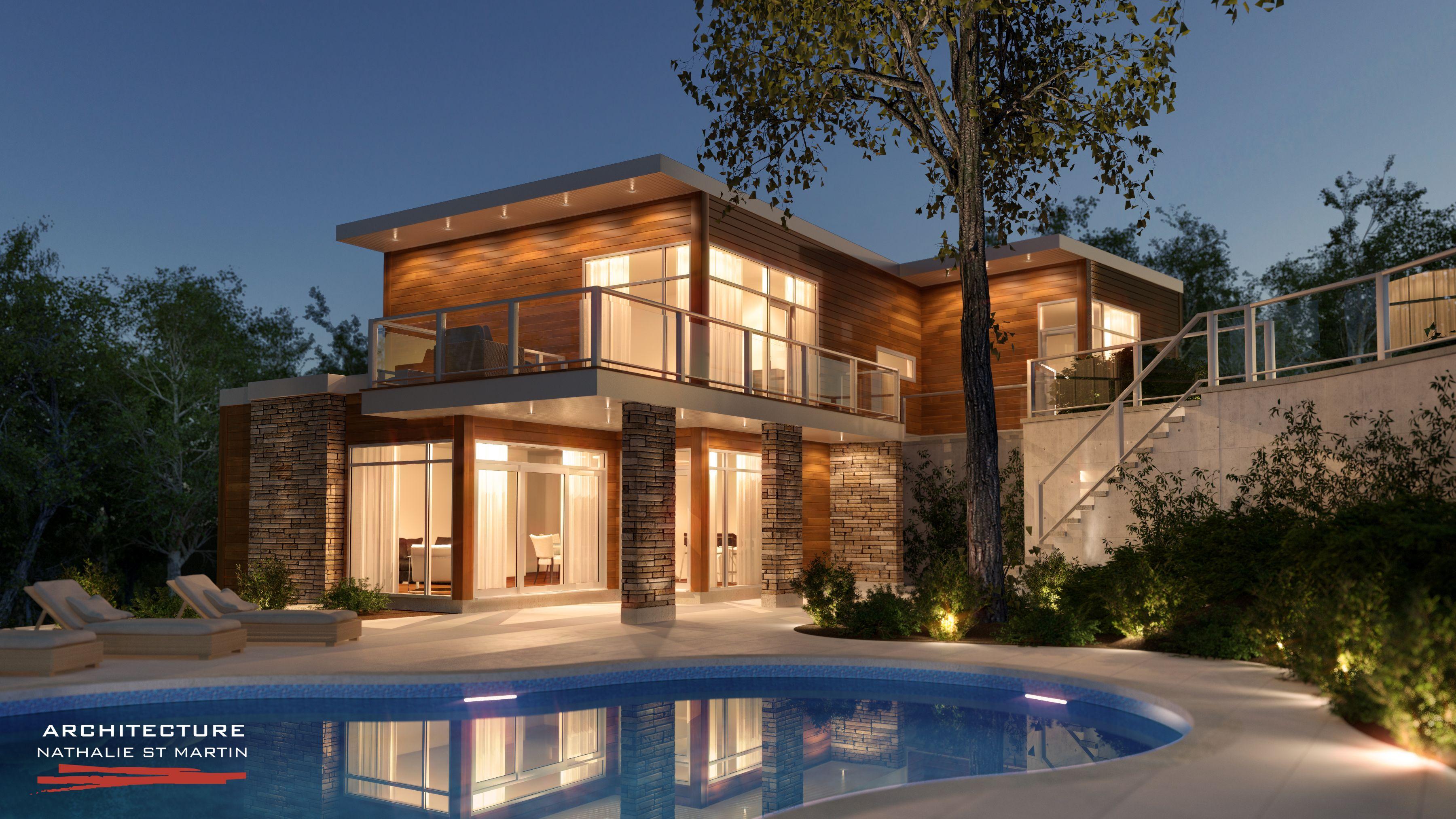 architecture st martin maisons neuves maison contemporaine maisons neuves maison et plan. Black Bedroom Furniture Sets. Home Design Ideas