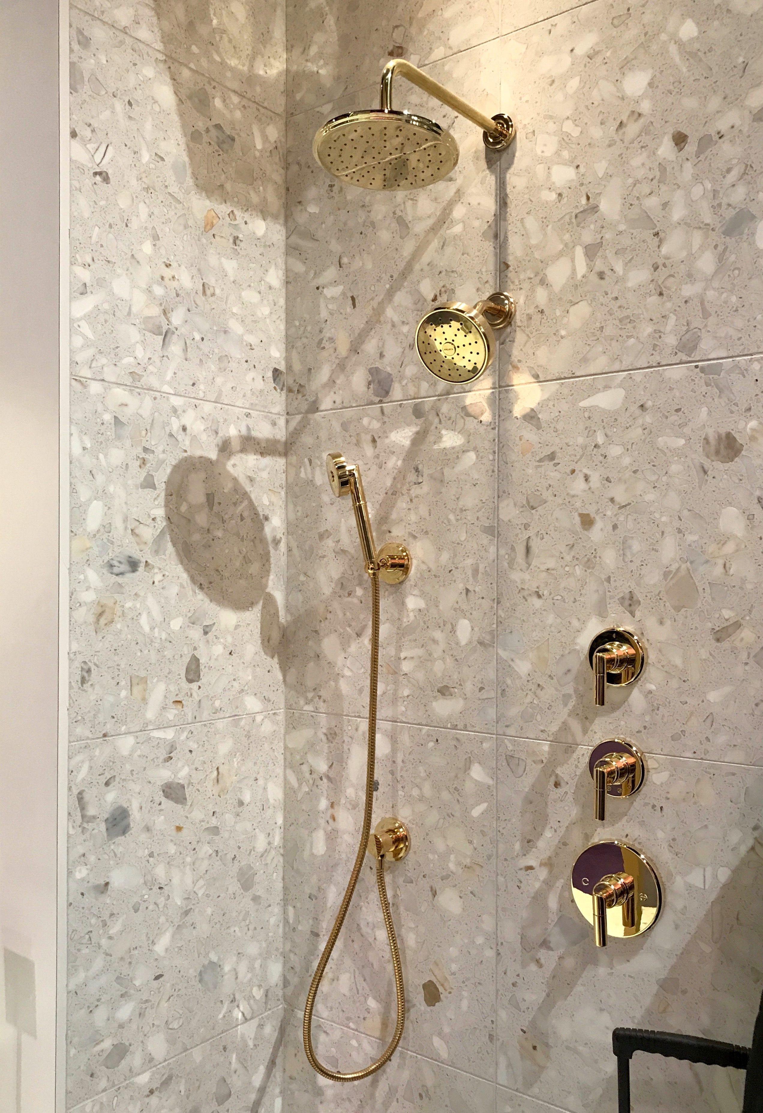 Kohler Brass Shower Fixtures Kbis2019 Designhoundskbis Showerfixturesnearme Shower Fixtures Modern Master Bathroom Kitchen And Bath Design
