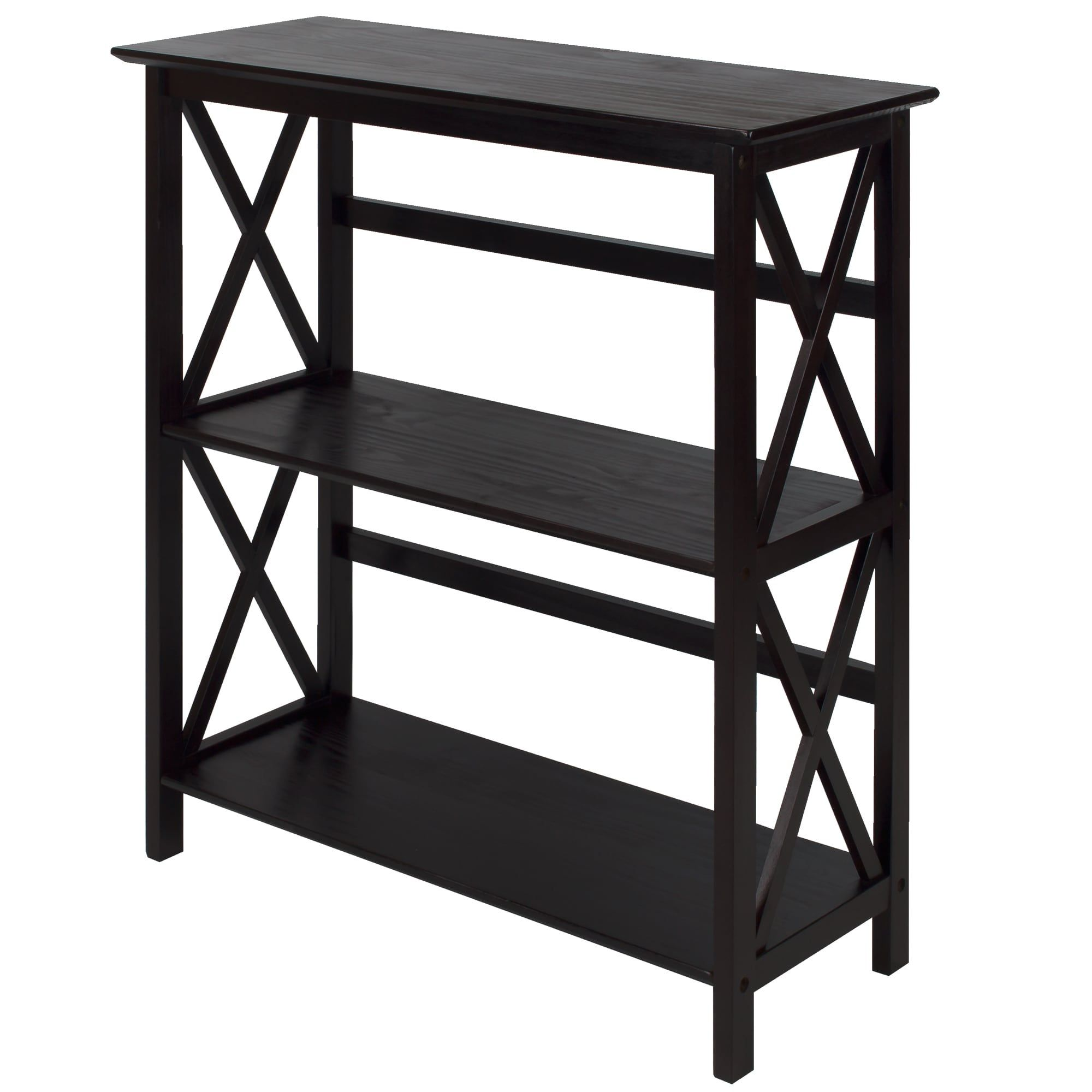 home overstock garden iris over wood dark shelf free tier bookcases com brown shipping product storage orders on bookcase