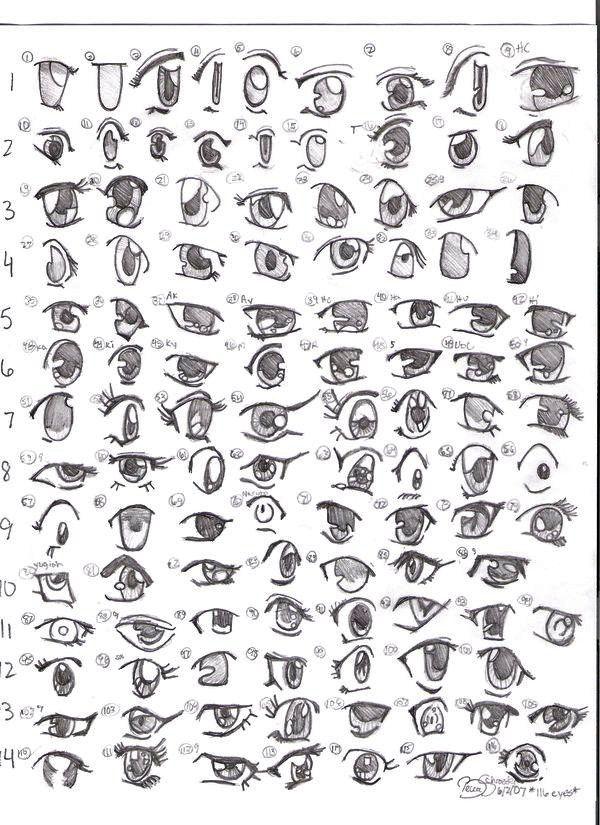 Hasil gambar untuk mata anime tampak samping Gambar mata