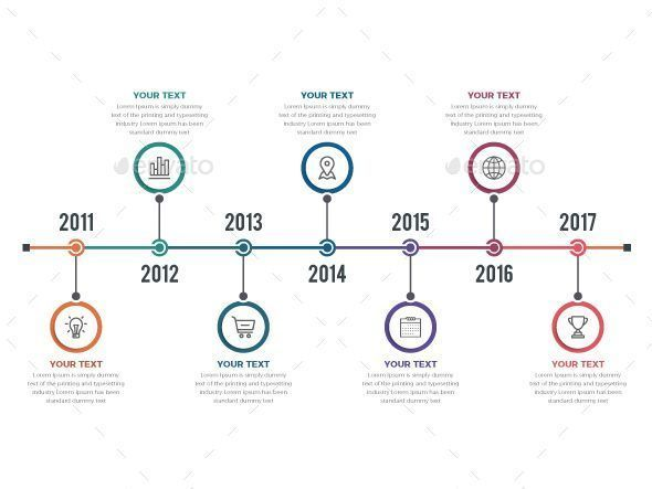 Timeline Infographics This is Colorful Horizontal Timeline