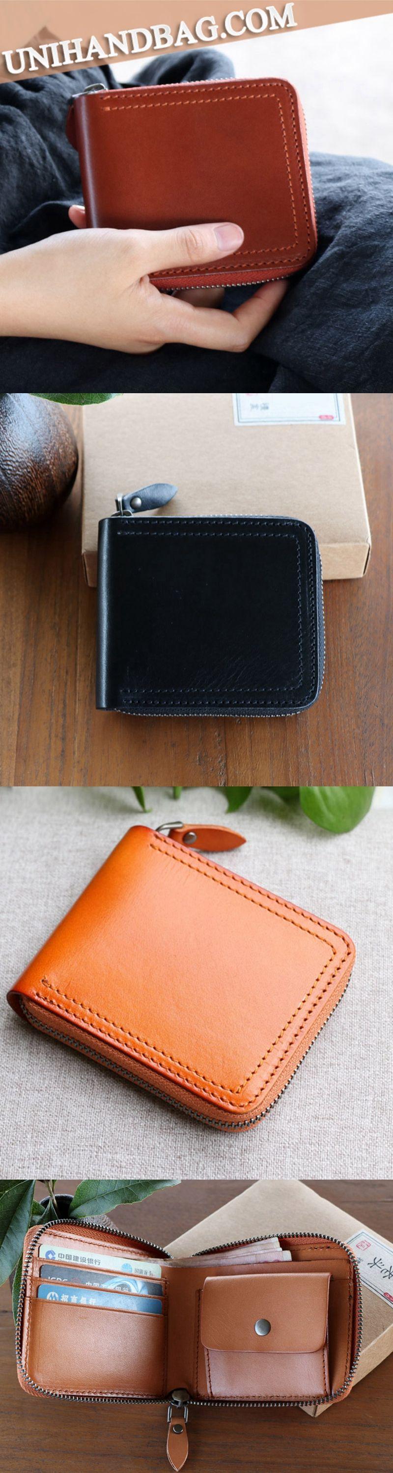 Handmade wallet designer retro casual top grain short