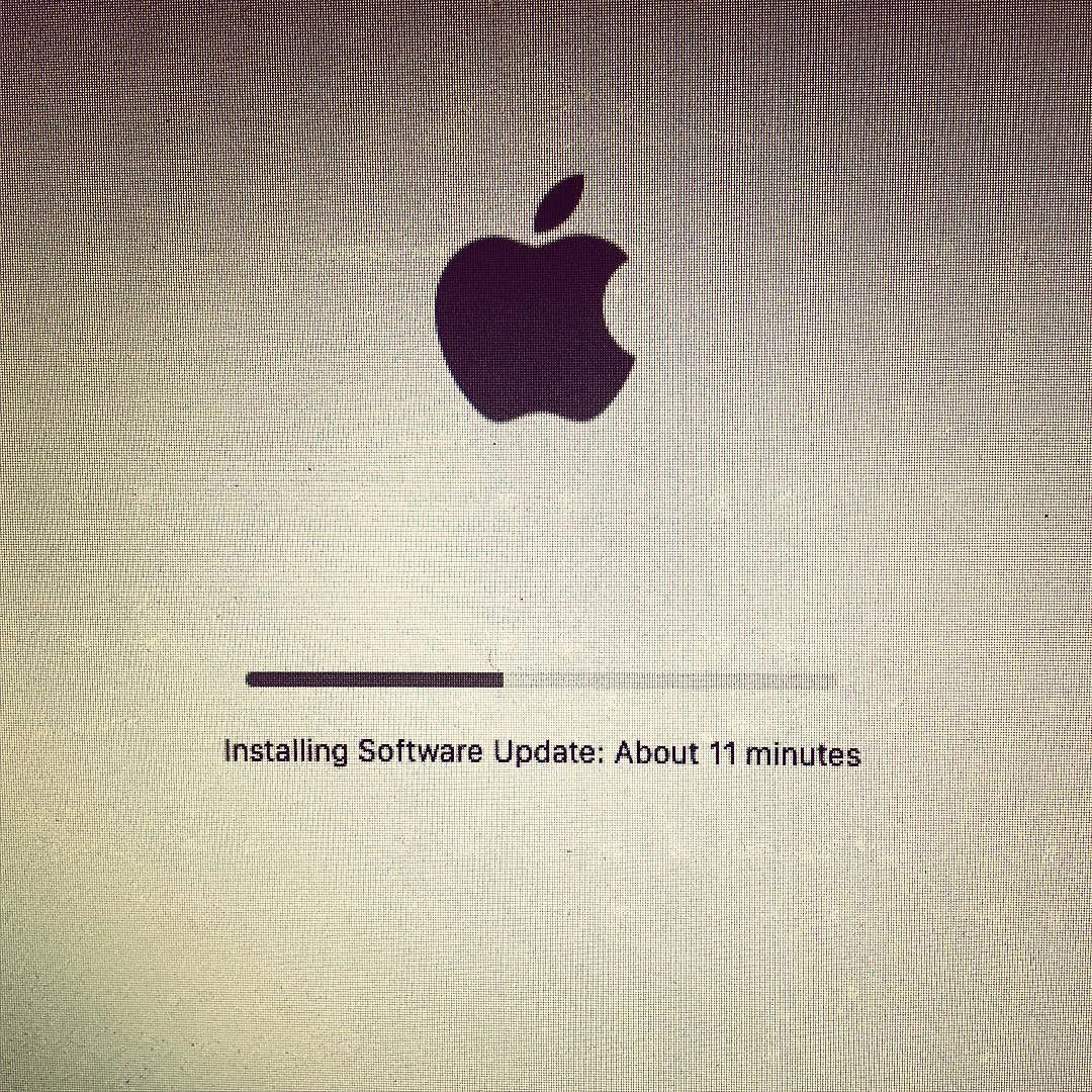 "OK. There's something mysterious about 11 tonight. Apple's update has been ""stuck"" on 11 for a long time now..."