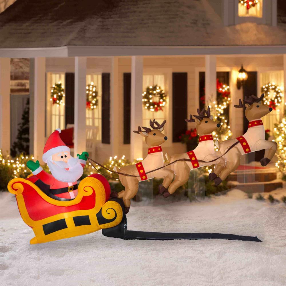Mesmerizing Outdoor Decoration Ideas For Christmas Live Enhanced Christmas Yard Decorations Inflatable Christmas Decorations Outdoor Christmas Decorations