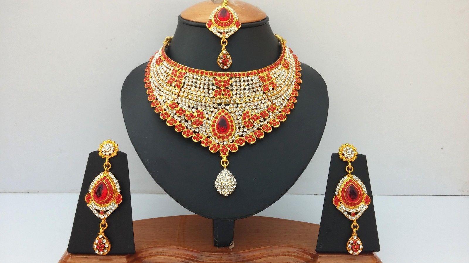Wedding gold plated zerconic u kundan stones designer handmade