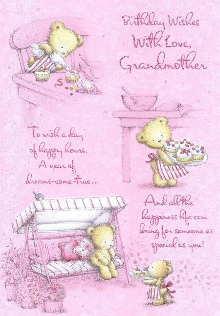 Happy Birthday Grandma Grandmother Birthday Cards My