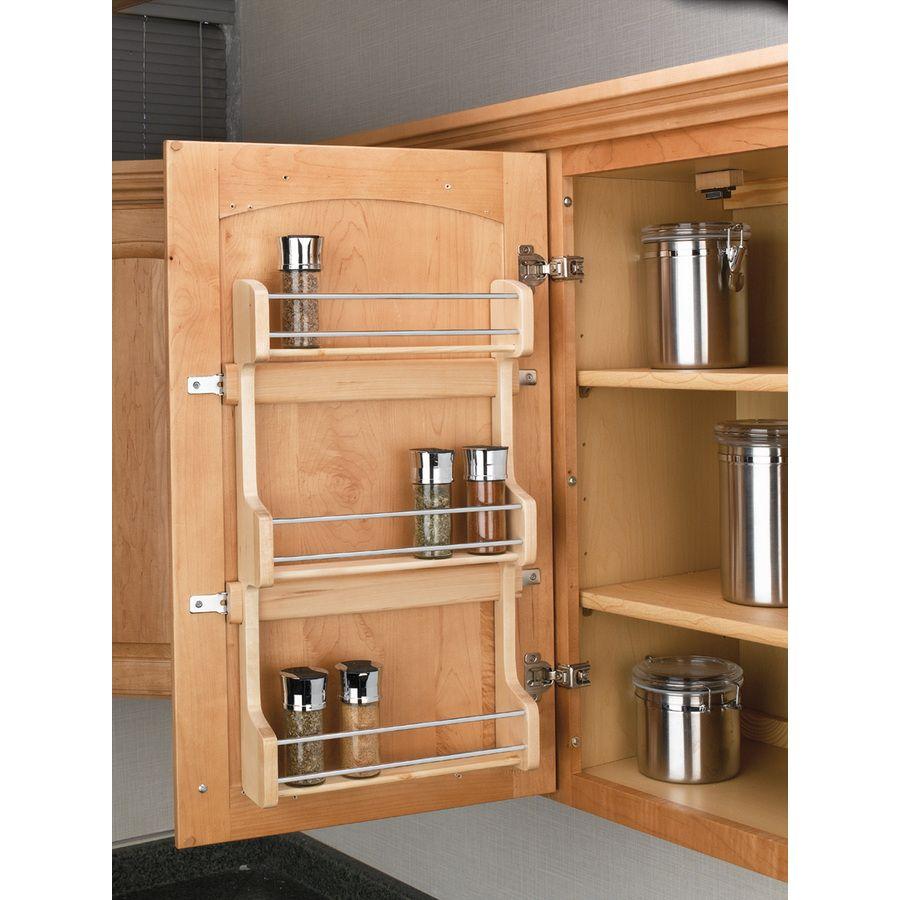 Shop Rev A Shelf Wood In Cabinet Spice Rack At Lowes Com Door