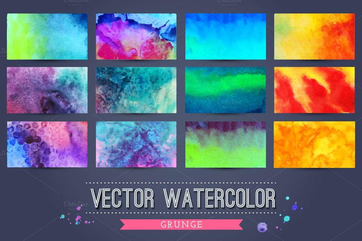 40 colorful grunge textures by Markovka on @creativemarket
