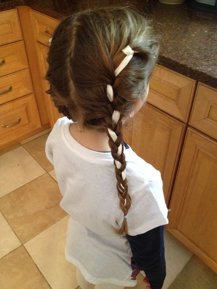 Anna S Hairstyle With Ribbon For Kids Frozen Hair Makeup Facepaint Braids Hairstyle Girls Nails Frozen Hair Anna Hair Hair