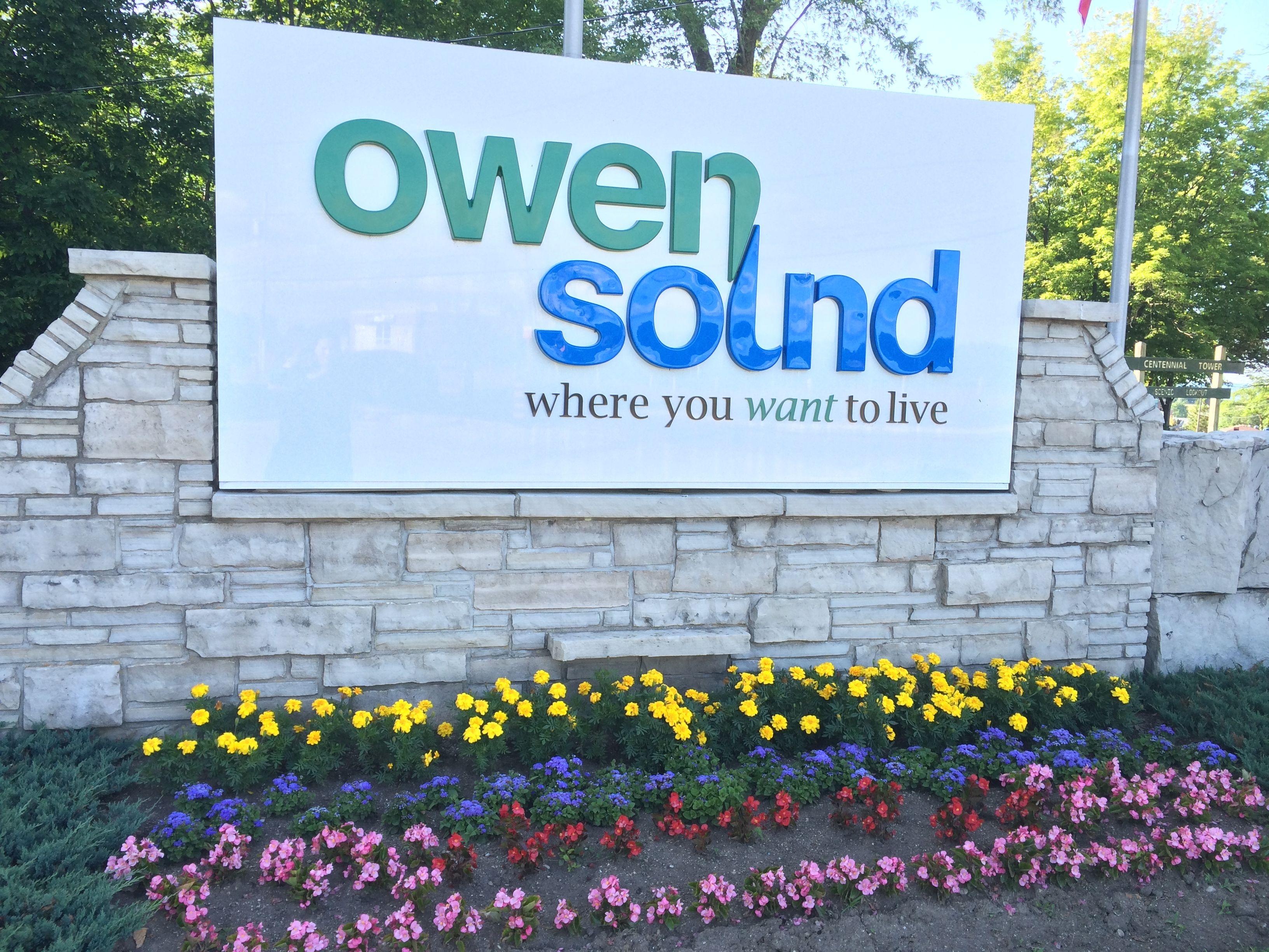city of owen sound welcome sign my owen sound u0026 area pinterest