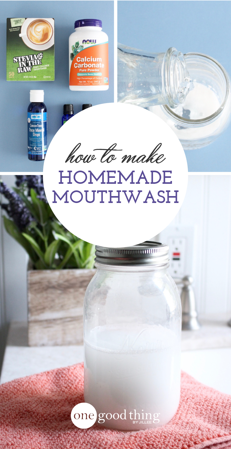 Learn how easy it is to make your own natural homemade mouthwash. It will help you maintain strong and healthy teeth, without the burn!