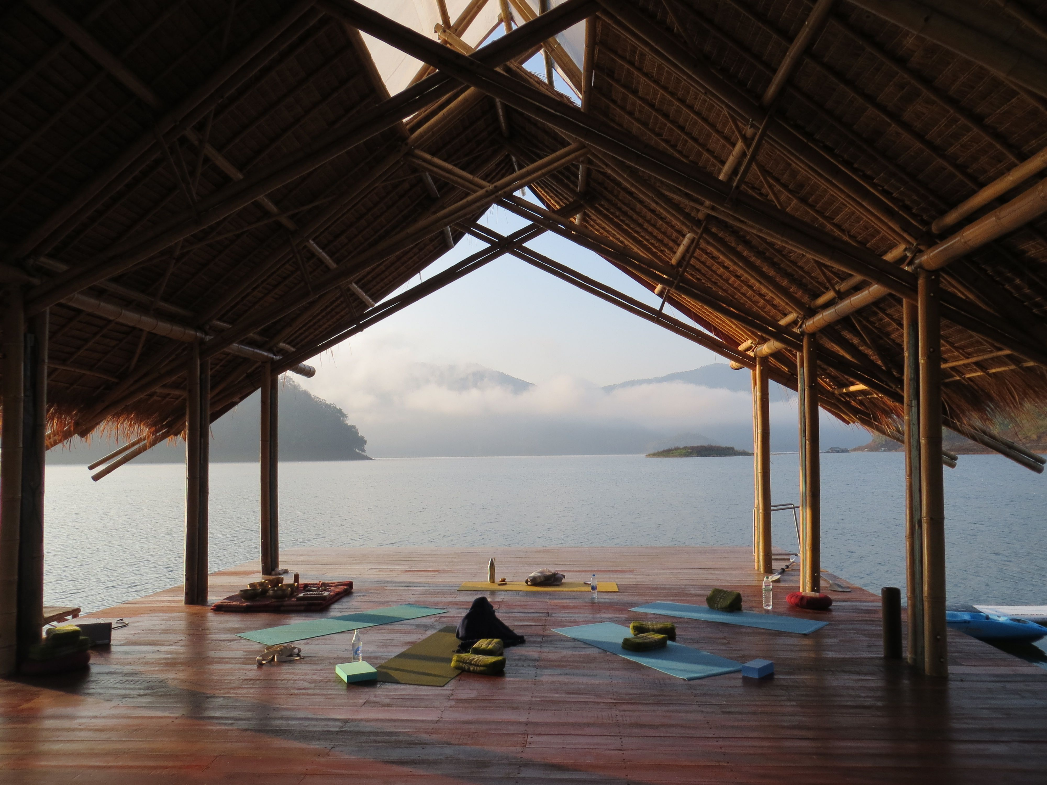 Yoga Retreat At Om Waters On A Lake An Hour From Chiang Mai Thailand It Was Incredible To Wake Up To This Eve Yoga Retreat Thailand Travel Relaxing Holidays