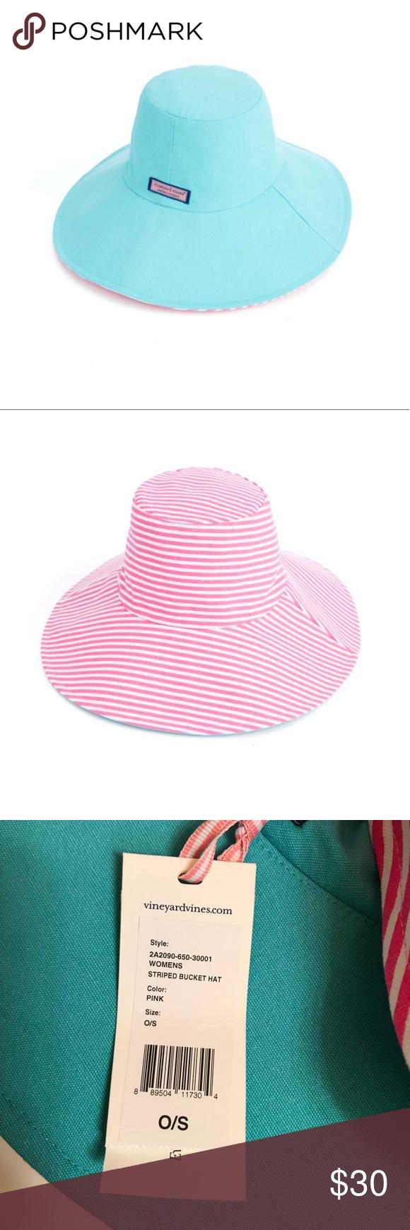 NWT Vineyard Vines reversible bucket hat NWT Vineyard Vines reversible bucket  hat. 100% cotton 53c7f8f1e3a