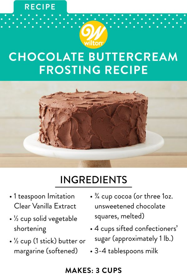 Easy Chocolate Buttercream Frosting Recipe Recipe Frosting Recipes Chocolate Buttercream Frosting Recipe Buttercream Frosting Recipe