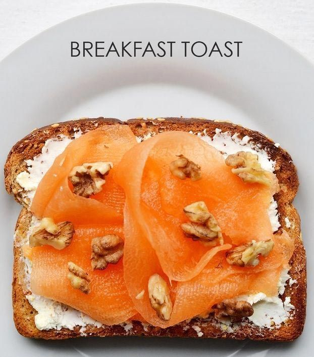 21 вариант приготовления необычных тостов на завтрак Мускусная дыня + измельченные грецкие орехи + агава + козий сыр