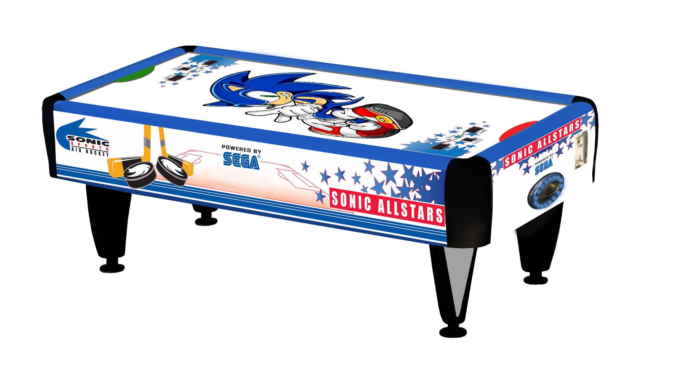 Sonic the Hedgehog air hockey table design! Air hockey