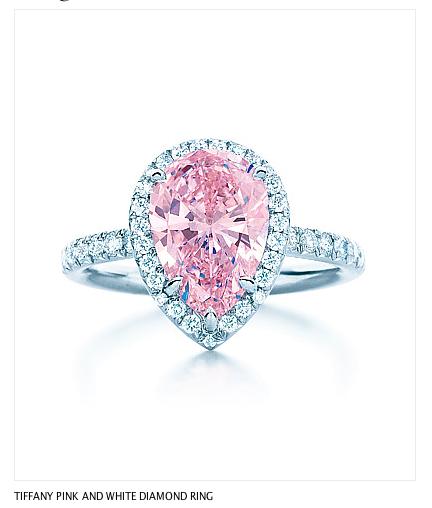 sale retailer b69b3 7dc5f TIFFANY PINK AND WHITE DIAMOND RING Photo Credit: Carlton ...