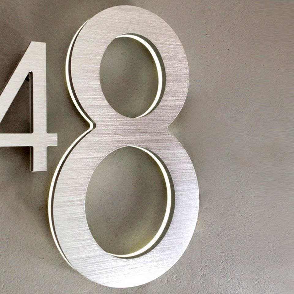 Luxello Modern Led House Number 8 Outdoor Led House Numbers